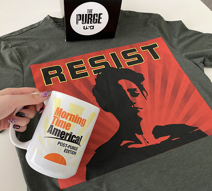 purge t-shirts clothing gigi guerrero, Morning Time America