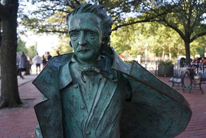 boston edgar allan poe horror novelist sculpture