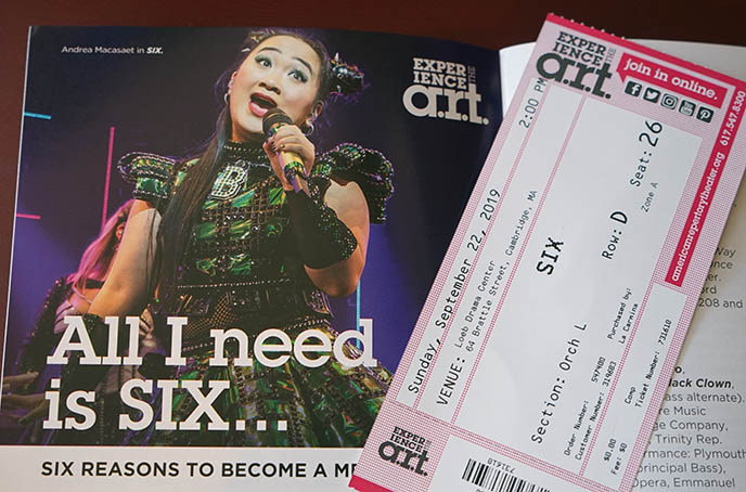 six the musical tickets, anne boleyn singing