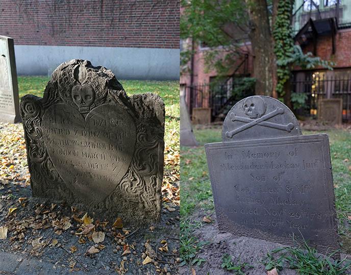 skull bones gravestones tombstones