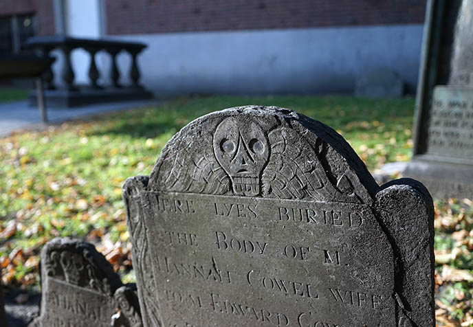 goth gravestones headstones granary boston grave yard