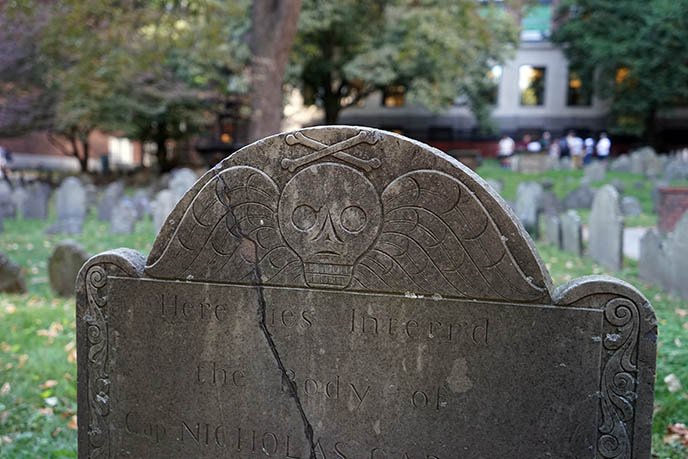 boston famous graves granary burial ground
