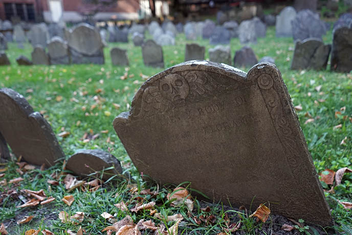 Boston's Old Burying Grounds cemetery