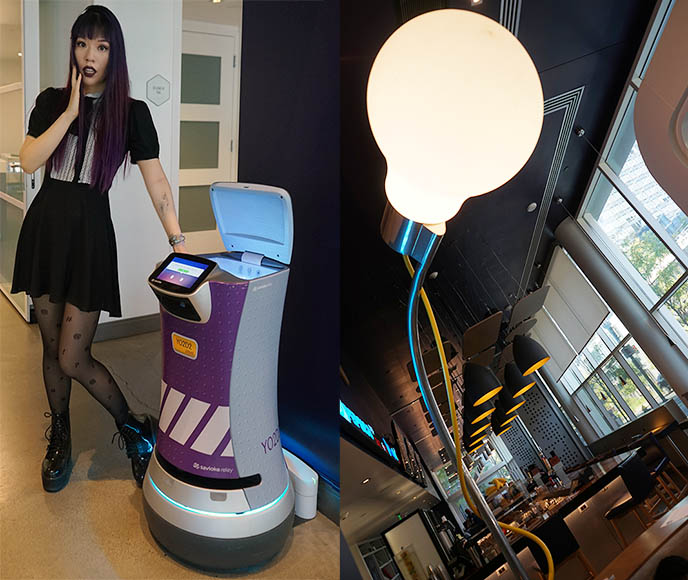 yotel hotel delivery robot