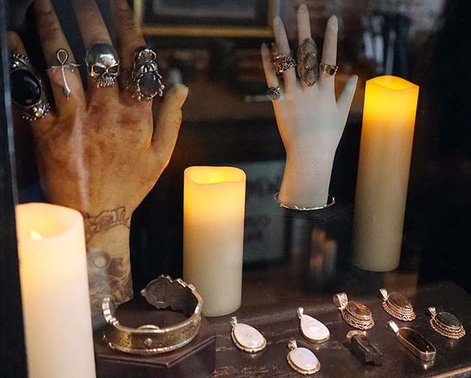 vampire rings silver skull ankh jewellery