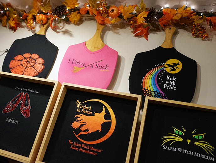 salem witch museum tshirts gift store