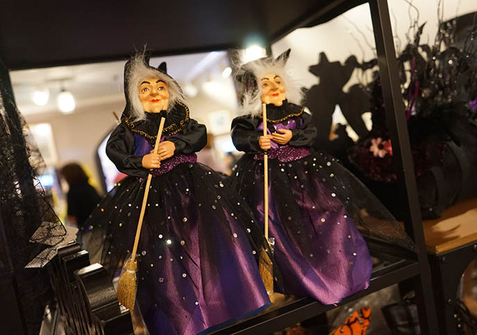 old crone witch dolls, salem gift shop