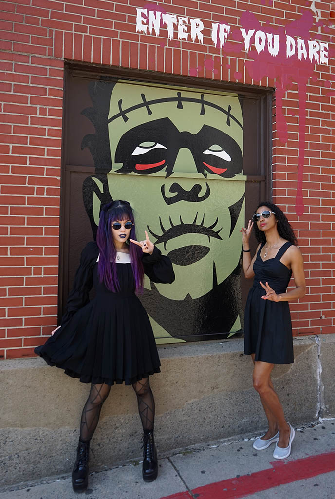 witches of salem, gothic clothing moi meme moitie pleats dress