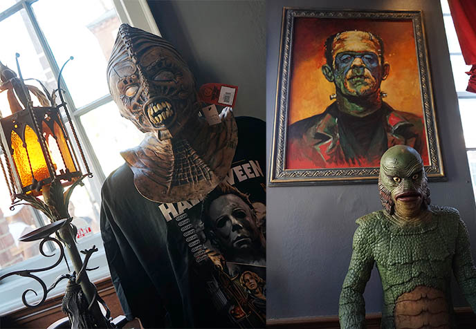 horror movies collectibles mask exhibition props