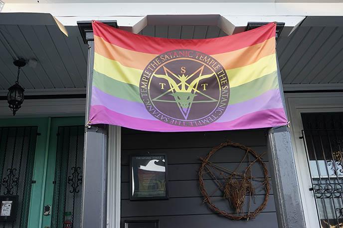 satanic temple pride rainbow flat lgbt gay