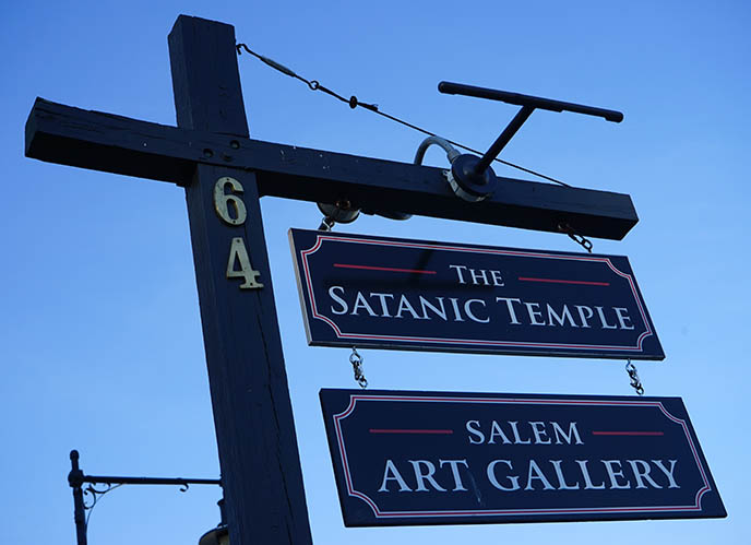 visit the satanic temple Salem Art Gallery massachussetts
