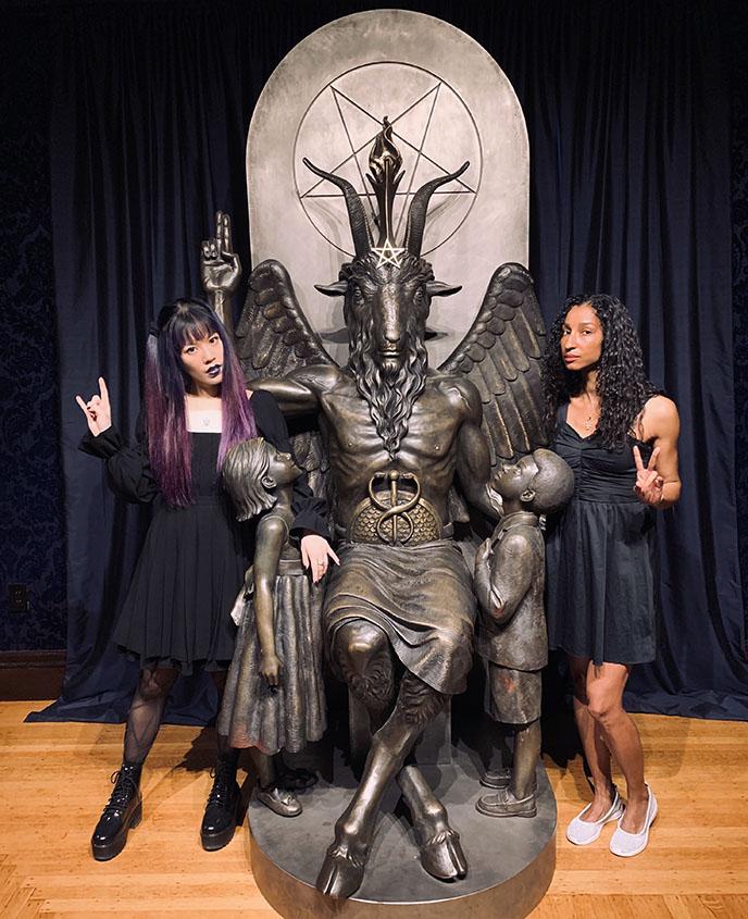 Satanic Temple salem, Baphomet Statue, satan devil lucifer sculpture