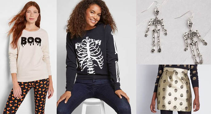halloween sweaters, modcloth goth clothing