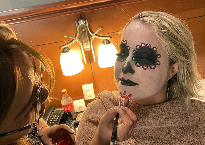 sugar skull makeup artist, facepaint