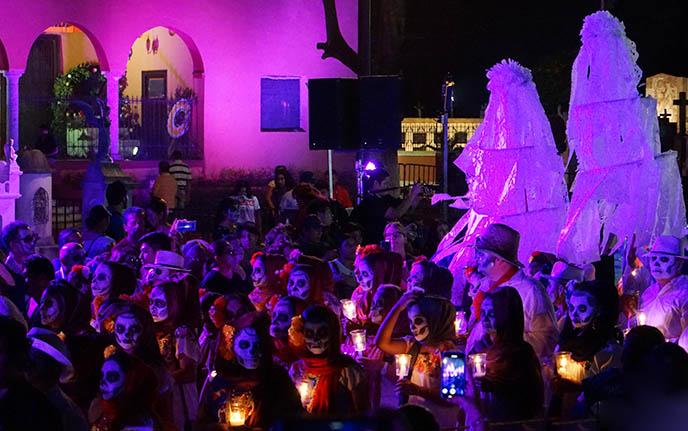 yucatan dia de los muertos procession, Hanal Pixan