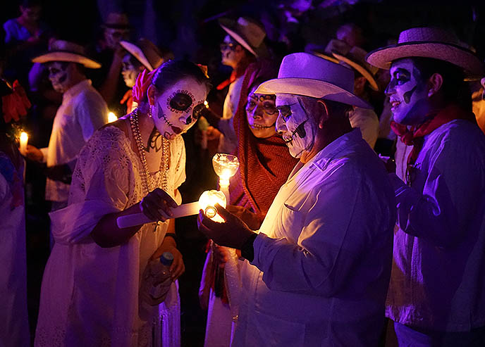 day of the dead parade lost souls merida yucatan mexico