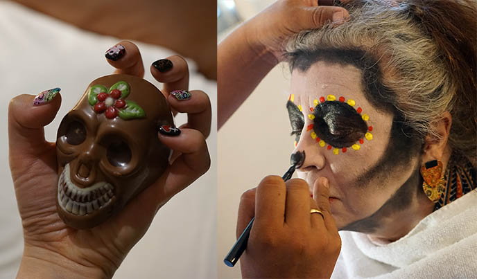 sugar skull chocolate, skull shaped chocolates