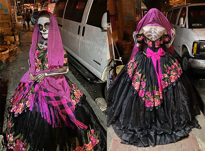 elegant skeleton costume la catrina mexican girl