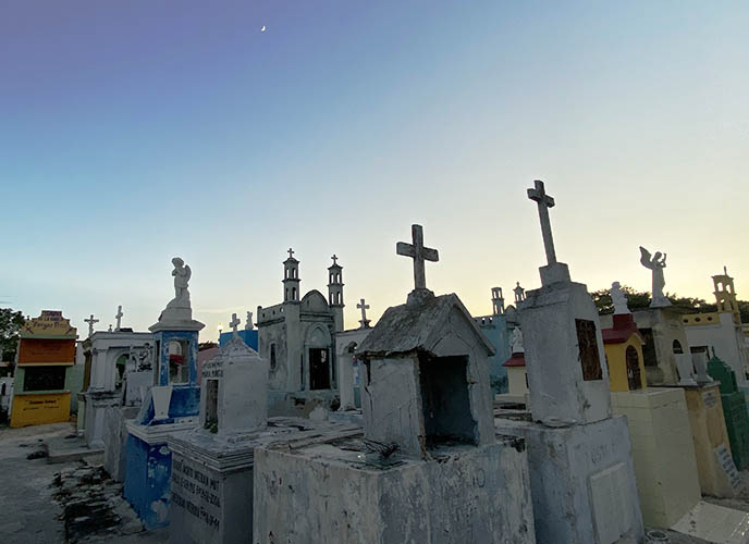 mexican haunted spooky cemetery