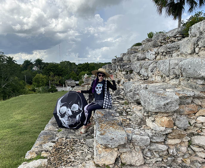 yucatan merida stone pyramid