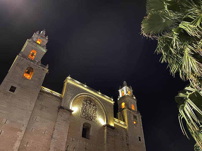 Cathedral of Mérida, Yucatán at night