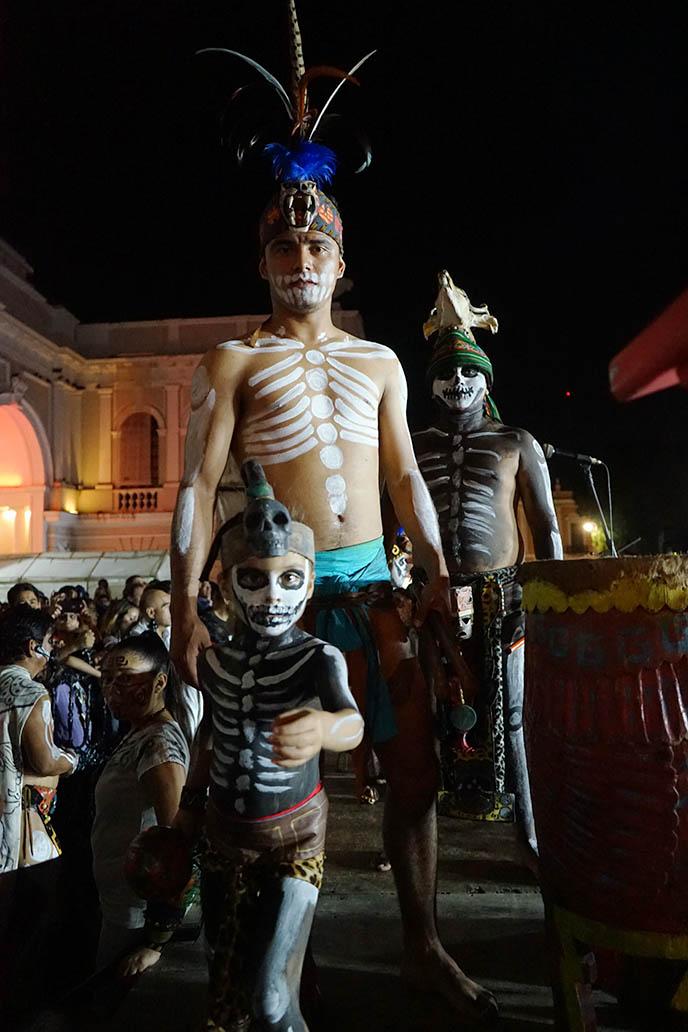 mayan musicians skeleton facepaint skull makeup