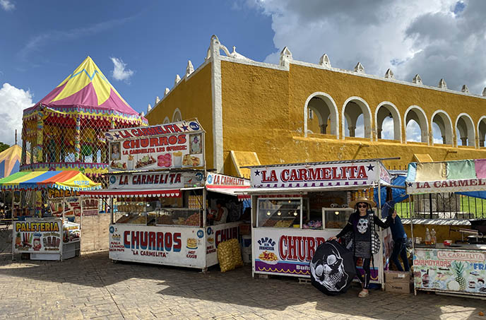 mexico churros stands carniva