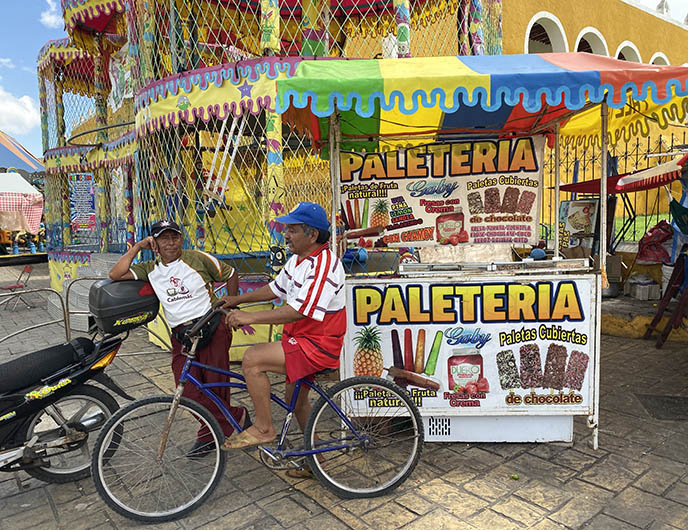 colorful mexican signs food vendors