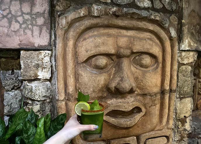 Pre-Columbian stucco head mayan face