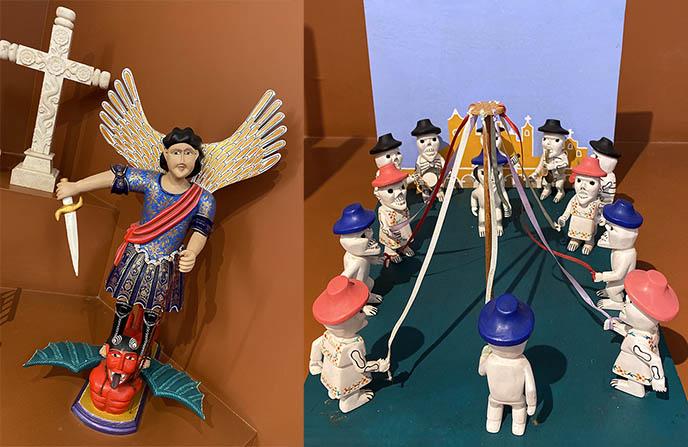 devils skeletons mexican artwork crafts