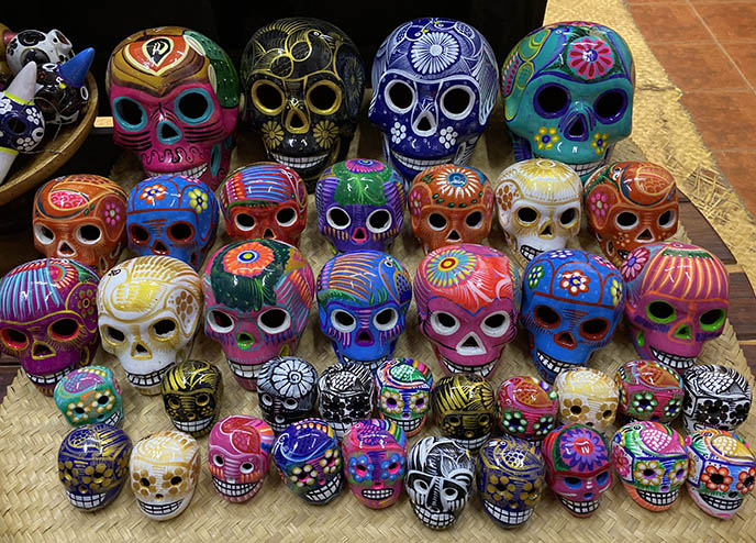 day dead skulls colorful rainbow mexican sugar skull