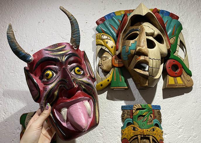 mexican devil demon mask horns mexico satan