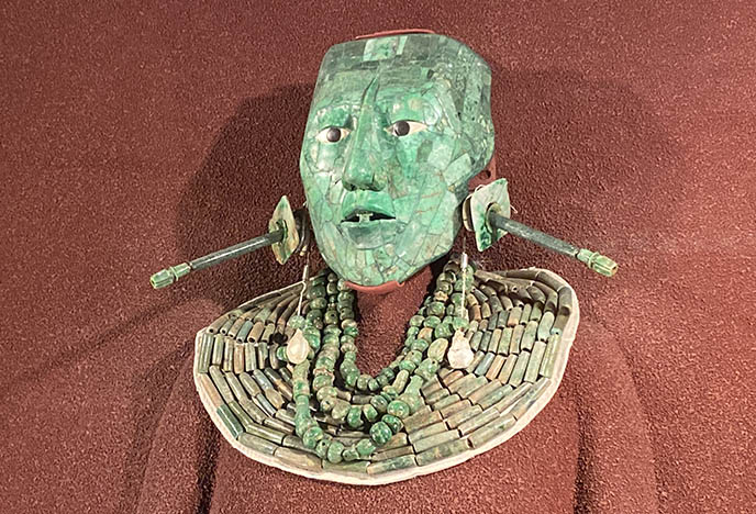 king pakal green alien mexican mask