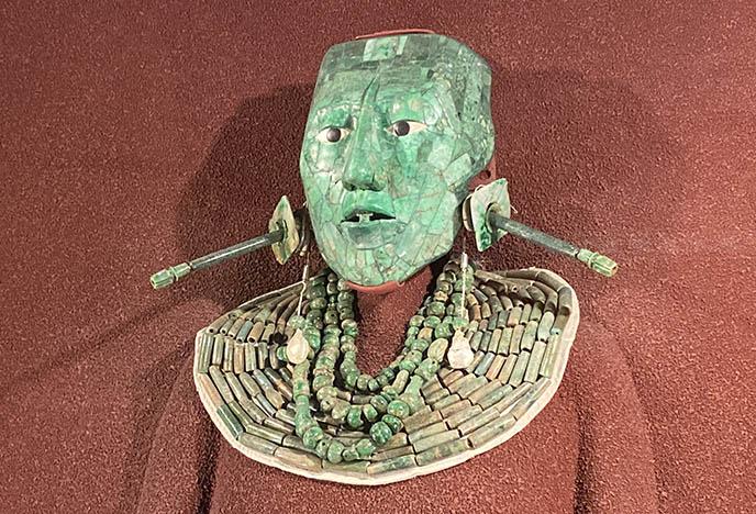king pakal green alien mexican mask