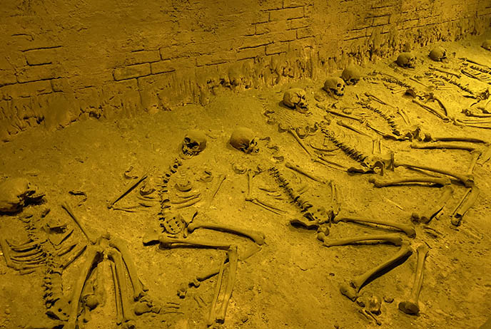maya human sacrifice remains skeletons