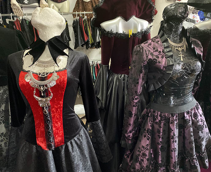 victorian steampunk gowns, mexican gothic designers