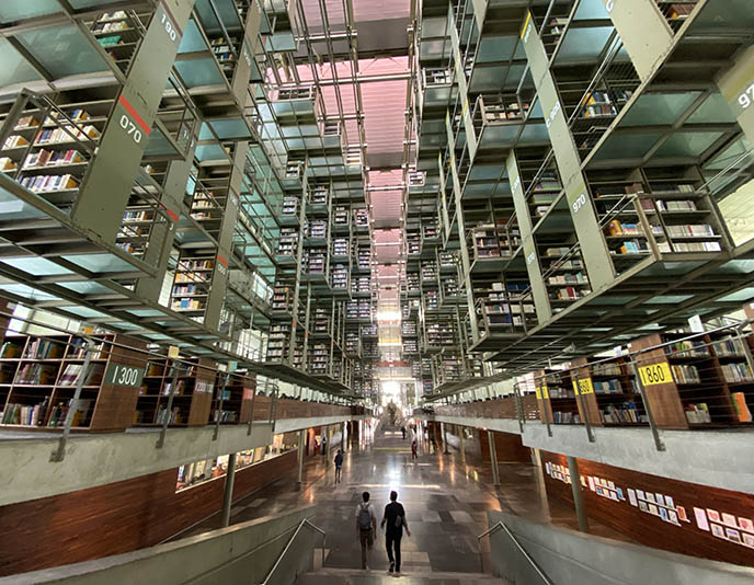 Biblioteca Vasconcelos architecture interior Mexico City