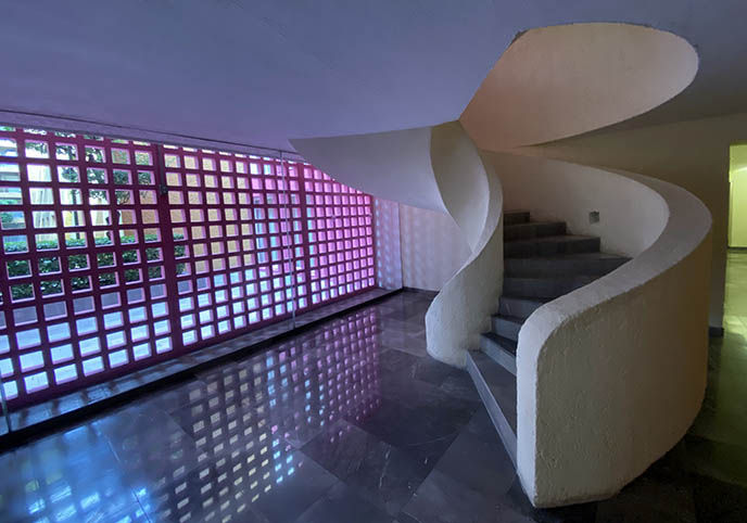 modern mexico city design art hotels winding staircase