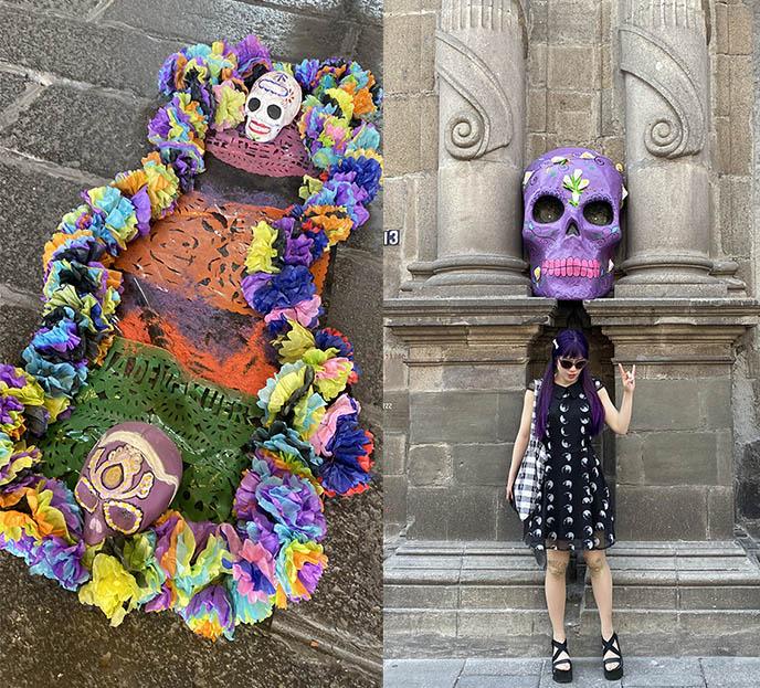 day of the dead decor mexico city