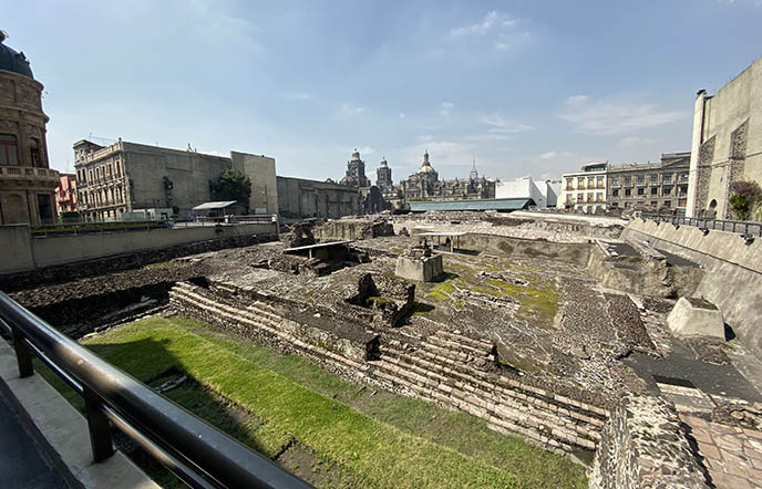 Templo Mayor ruins Tenochtitlan