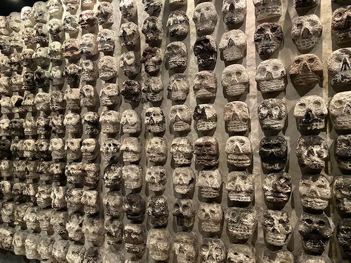 Aztec skull trophy rack templo mayor tzompantli