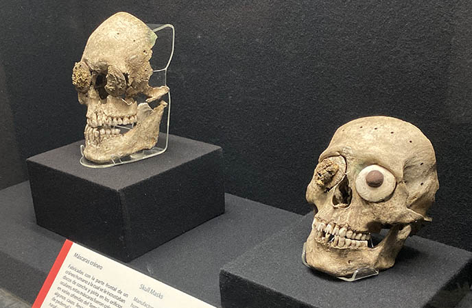decorated skulls mexico weird artifacts