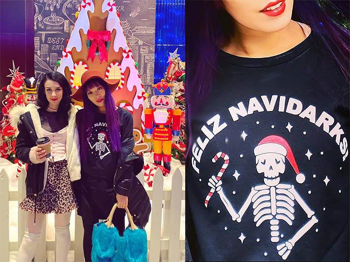 day of the dead christmas sweater skull xmas feliz navidad shirt