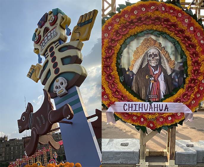 day dead skeleton offerings ofrenda mexico city