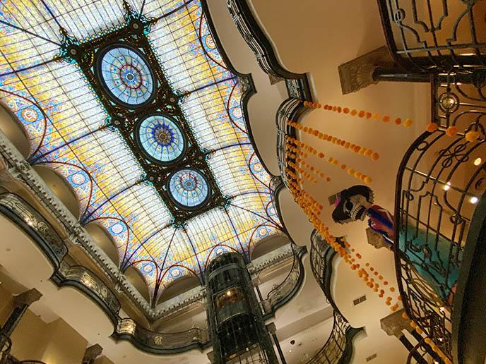 gran hotel ciudad de mexico, mexico city art nouveau architecture