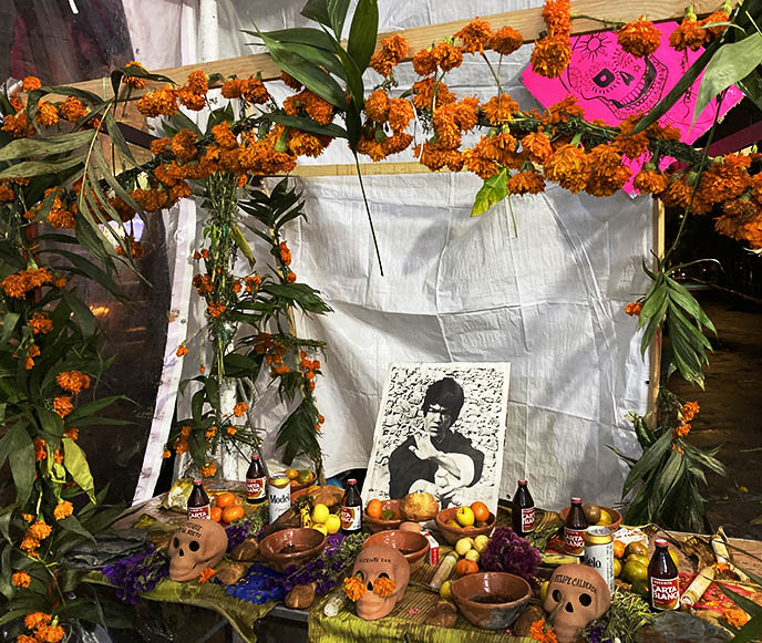 bruce lee death shrine altar