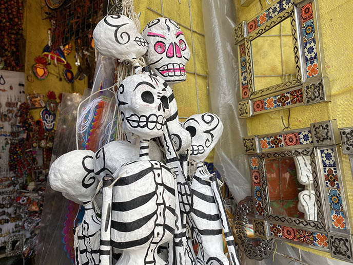 mexican paper mache skeletons day of the dead