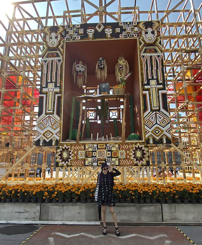 zocalo day of the dead public art installations mexico city