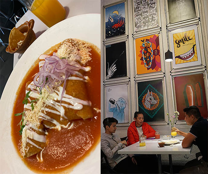 plantain enchilada, cool hip brunch spots mexico city
