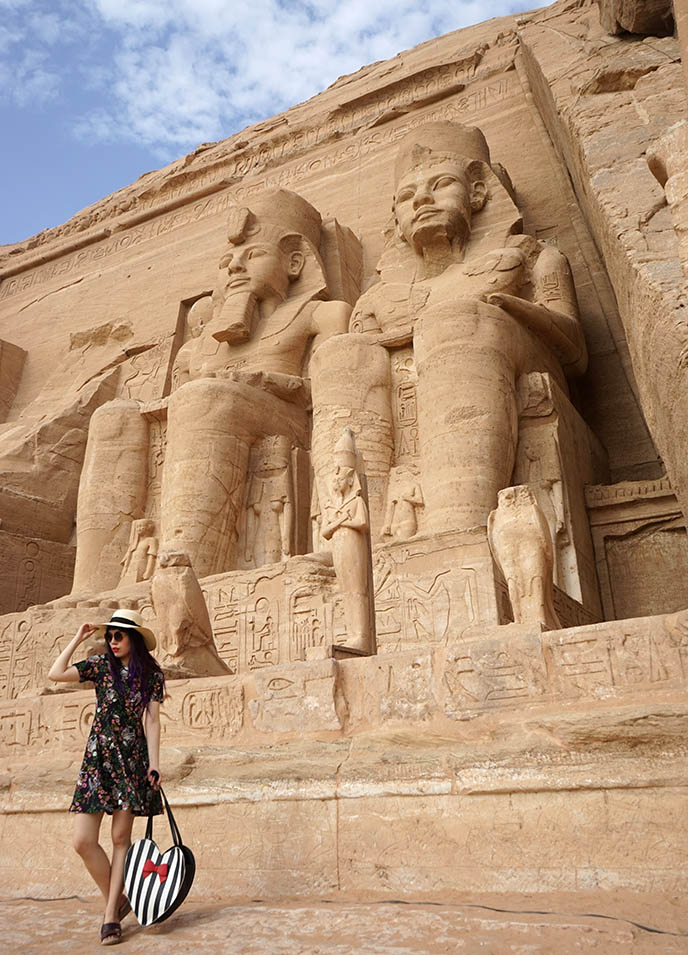 egypt millennial young travelers group tour ramses statues